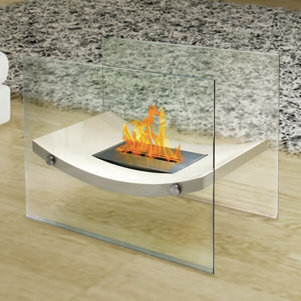 Broadway Glass Bio-Ethanol Fireplace by Anywhere Fireplace