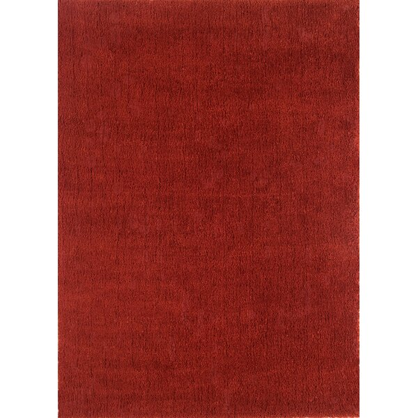 Cloud Cranberry Shag Area Rug by Continental Rug Company