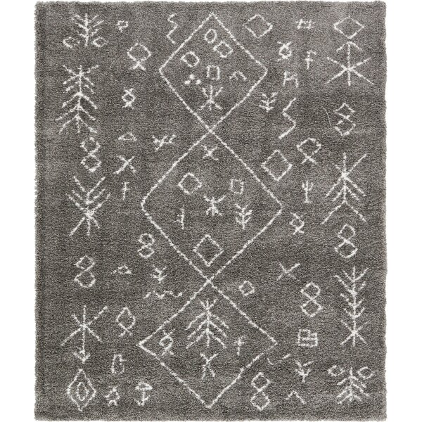 France Machine woven Gray Area Rug by Mistana