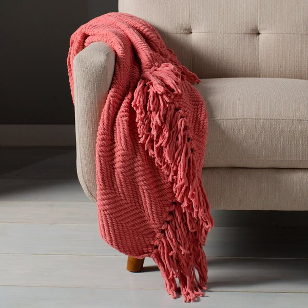 Nader Tweed Knitted Throw Blanket by Three Posts