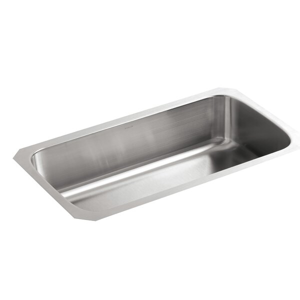 Undertone 31-1/2 L x 17-3/4 W x 8 Extra-Large Under-Mount Single-Bowl Kitchen Sink by Kohler