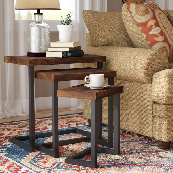 Crenata 3 Piece Nesting Tables by Trent Austin Design