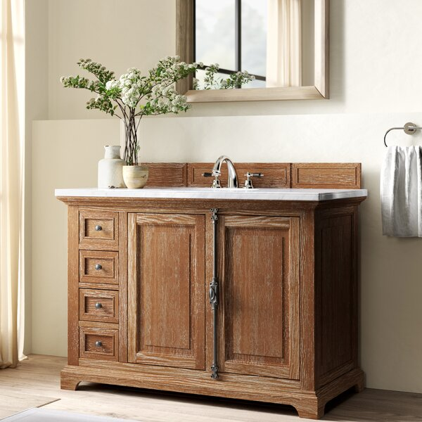 Ogallala 48 Single Driftwood Bathroom Vanity Set with Drawers by Greyleigh
