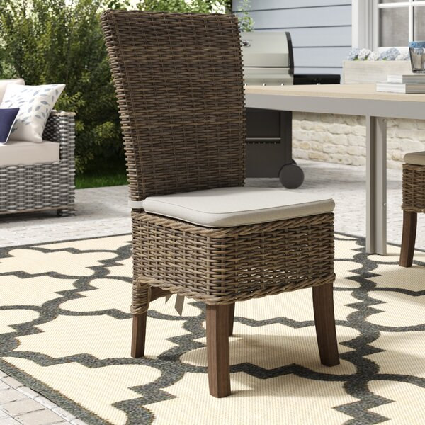 Branford Patio Dining Chair with Cushion (Set of 2) by Beachcrest Home Beachcrest Home