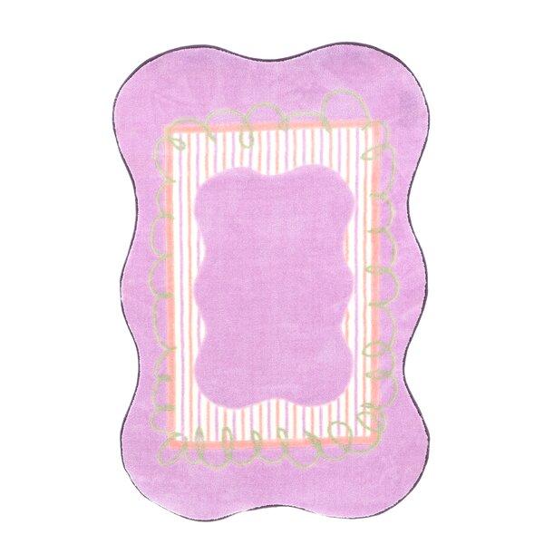 Supreme Scalloped Girls Purple Area Rug by Fun Rugs