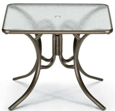 Obscure Acrylic Square Dining Table by Telescope Casual