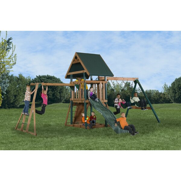Mongoose Manor Deluxe Swing Set by Backyard Play Systems