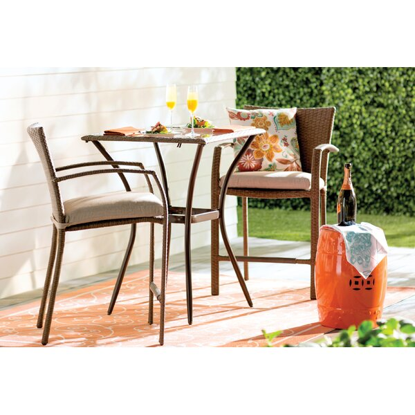 Edwards 3 Piece Bistro Set by Highland Dunes