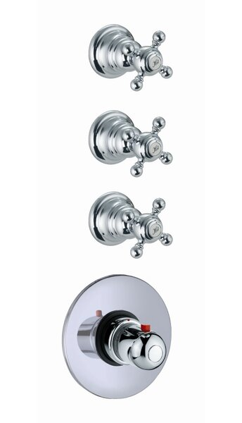 Elizabeth Built-In Thermostatic Faucet with Three Volume Control Handles by Fima by Nameeks