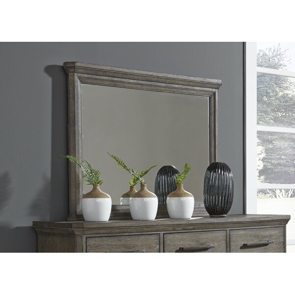 Grigg 6 Drawer Combo Dresser with Mirror by Gracie Oaks
