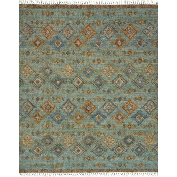 Bentonville Hand-Woven Blue Area Rug by Foundry Select