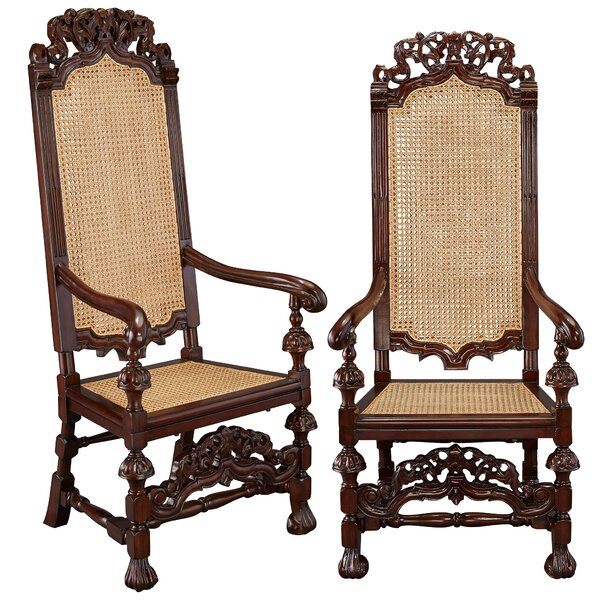 William And Mary Mahogany Armchair (Set Of 2) By Design Toscano Best Design