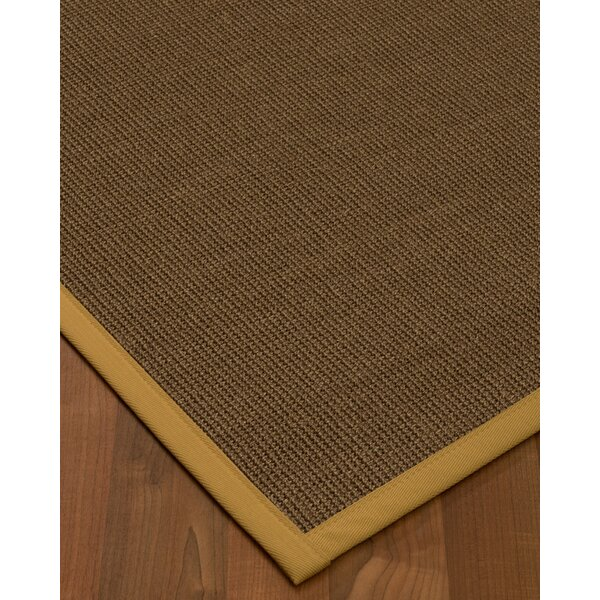 Kerner Border Hand-Woven Brown/Sage Area Rug by Bayou Breeze