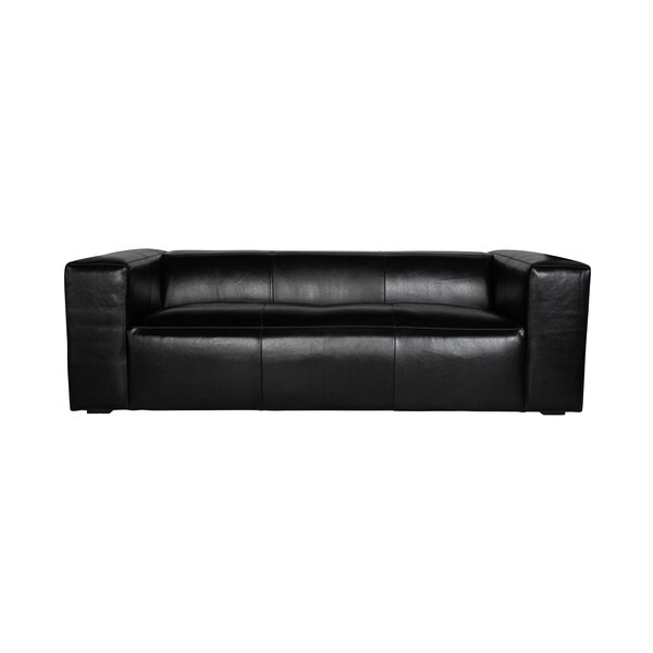 Earnest Genuine Leather Sofa By Orren Ellis