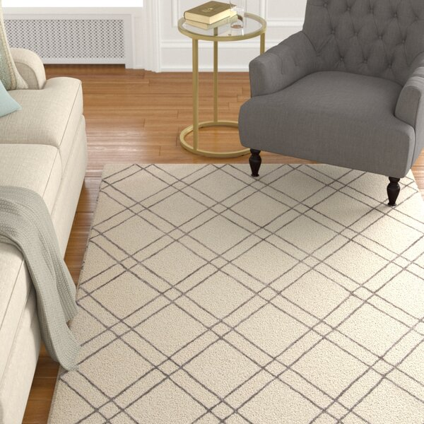 Dirks Hand-Tufted Wool Ivory Area Rug by Charlton Home