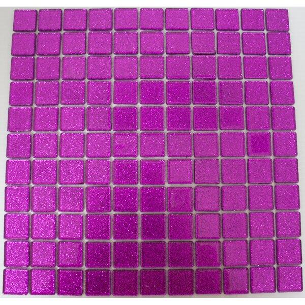 1 x 1 Glass Mosaic Tile in Purple Violet by Susan Jablon