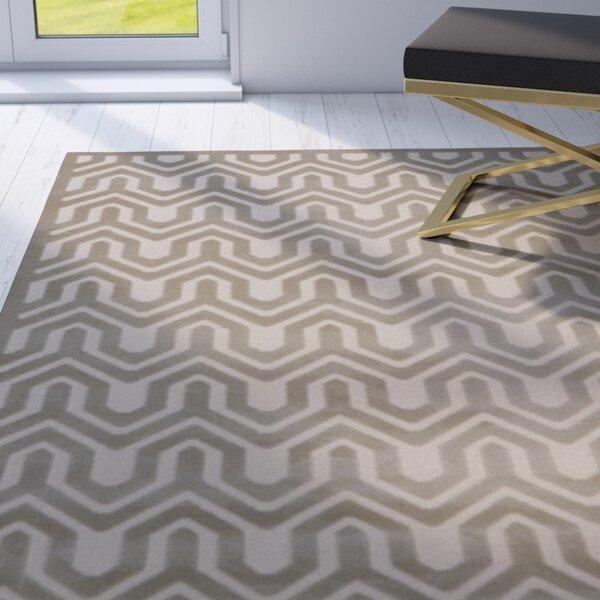 Beaconsfield Ivory/Light Gray Area Rug by Mercer41