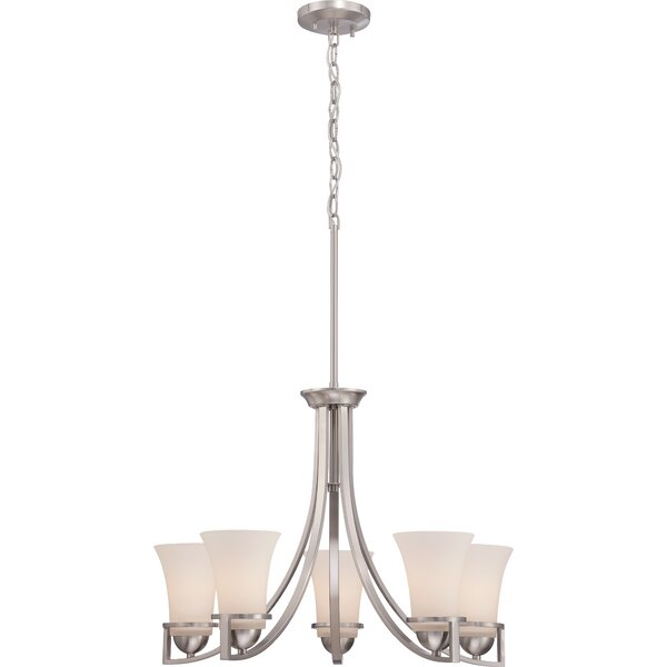 Collin 5-Light Shaded Classic / Traditional Chandelier by World Menagerie World Menagerie