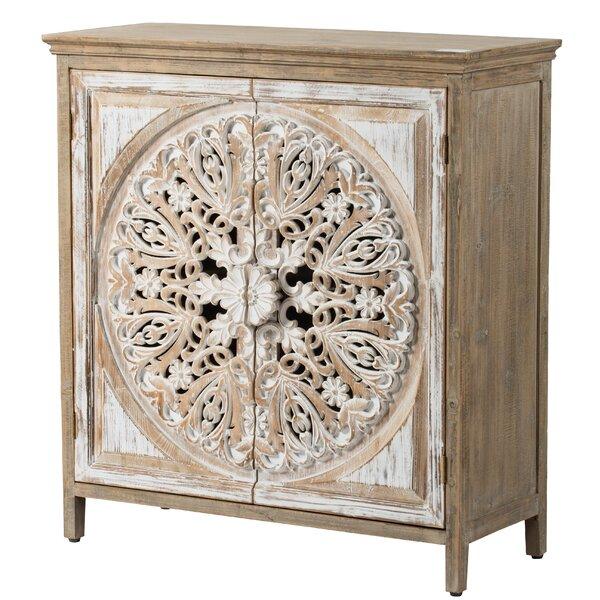 Havran Wooden 2 Door Accent Cabinet by Bungalow Rose Bungalow Rose