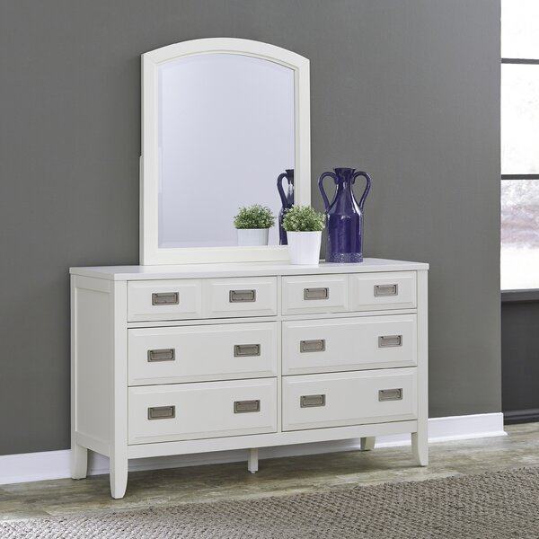 Darrow 6 Drawer Double Dresser with Mirror by Mercury Row