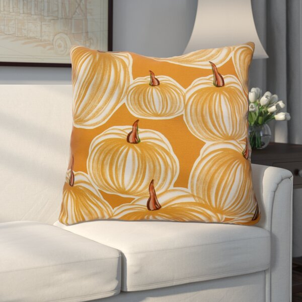 Miller Pumpkins-A-Plenty Geometric Euro Pillow by Alcott Hill