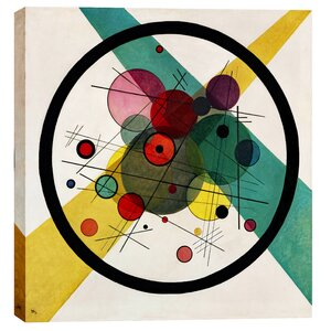 Circles in a Circle by Wassily Kandinsky Graphic Art on Wrapped Canvas by Epic Graffiti