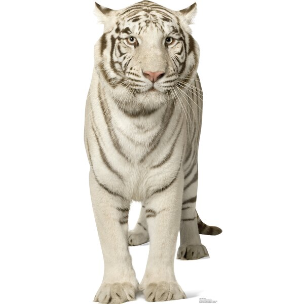 White Tiger Cardboard Stand-Up by Advanced Graphics
