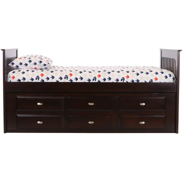 Giuditta Mates & Captains Twin Sleigh Bed with 12 Drawers by Birch Lane™ Heritage
