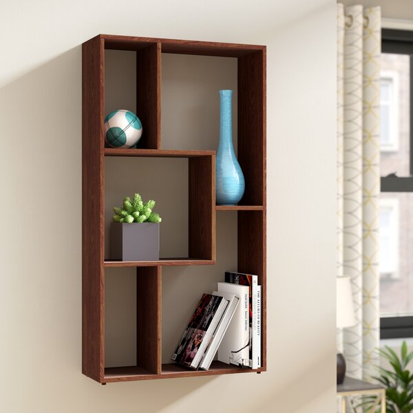 Natalie Multimedia Wall Mounted Standard Bookcase by Zipcode Design