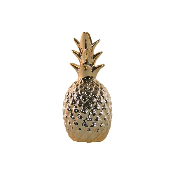 Ceramic Pineapple Sculpture by Urban Trends