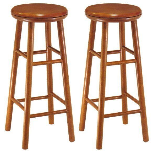 Aberdeen 31 Swivel Bar Stool (Set of 2) by Loon Peak