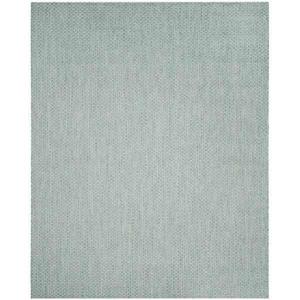 Light Blue/Light Gray Indoor/Outdoor Area Rug by Wrought Studio