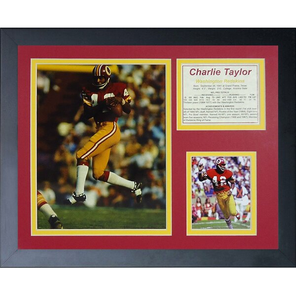 Charlie Taylor Framed Memorabilia by Legends Never Die