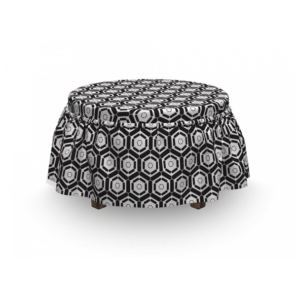Futuristic Motif Ottoman Slipcover (Set Of 2) By East Urban Home