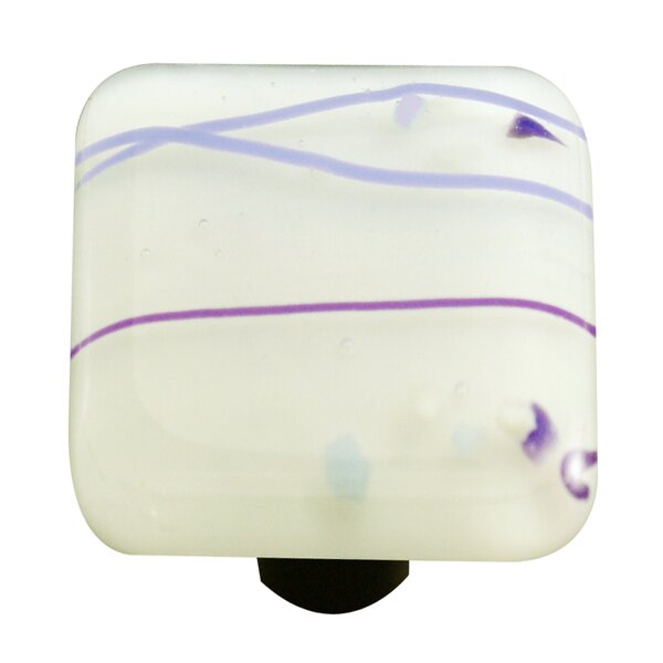 Mardi Gras Square Knob by Aquila Art Glass