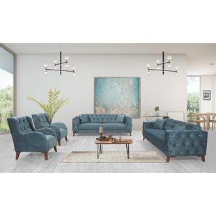 Living Room Set Blue by Rosdorf Park