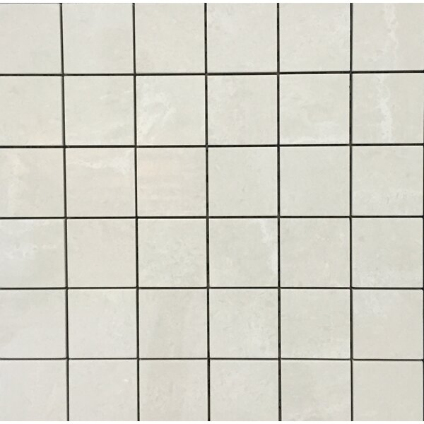Pearl 12 x 12 Porcelain Mosaic Tile in Cream by Kellani