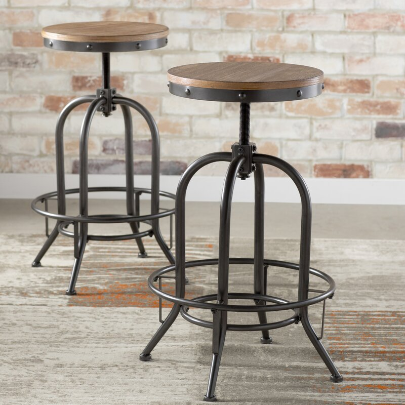 Empire Adjustable Height Swivel Bar Stool
