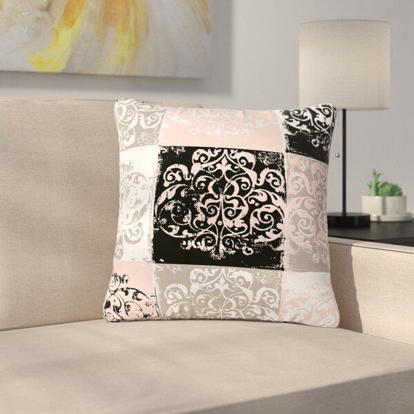 Chickaprint Damaskmix Outdoor Throw Pillow by East Urban Home