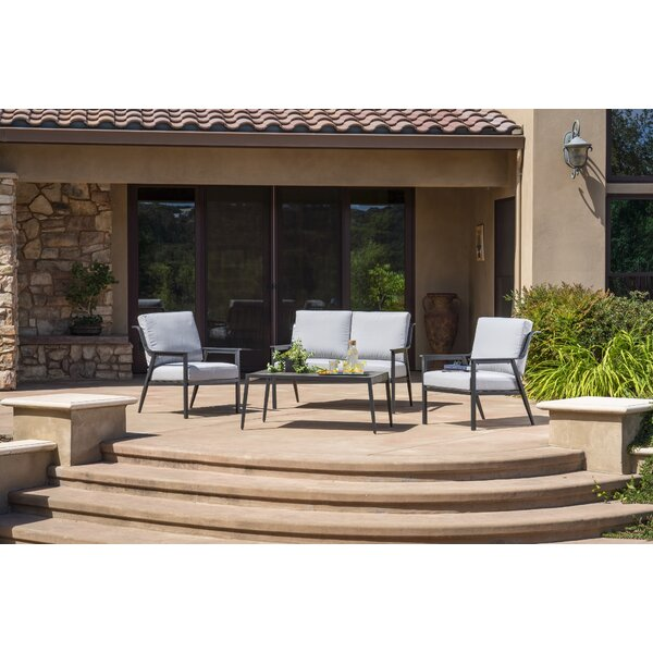 Batson 4 Piece Deep Seating Group by George Oliver