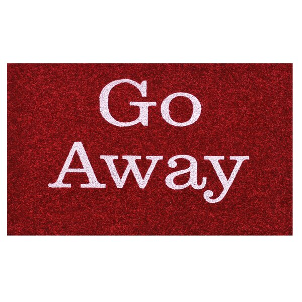 Go Away Doormat by Home & More