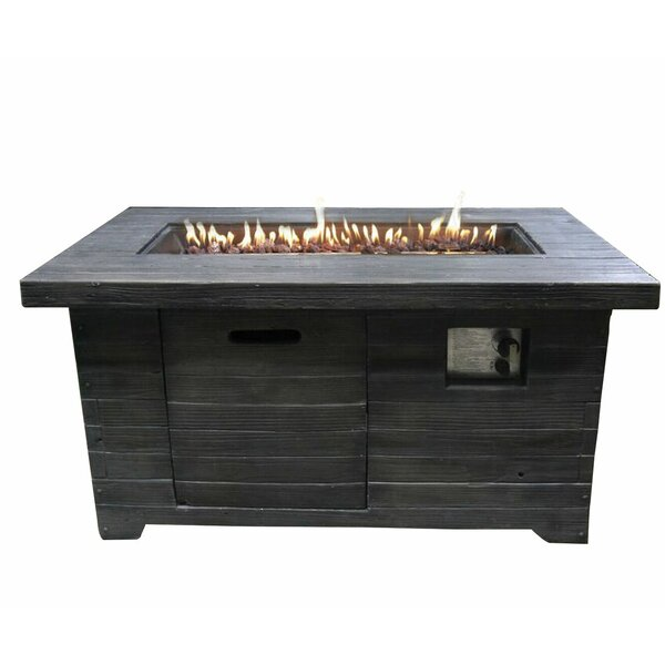 Alistair MgO Propane Fire Pit By Rosecliff Heights