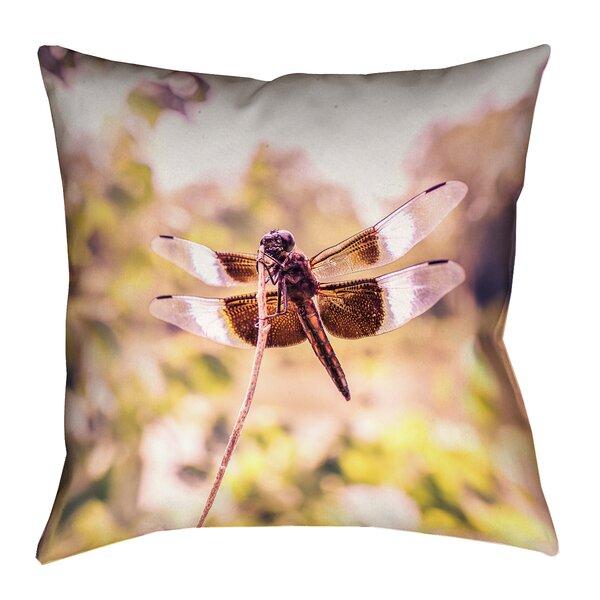 'Hargis Dragonfly Outdoor Throw Pillow