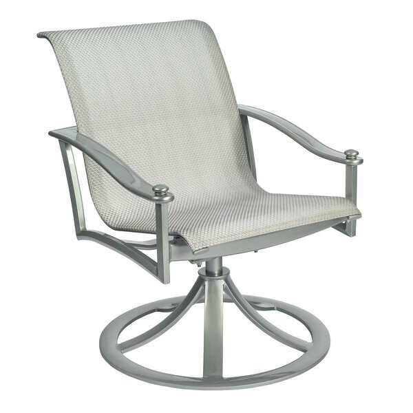 Nob Hill Rocking Swivel Patio Dining Chair by Woodard