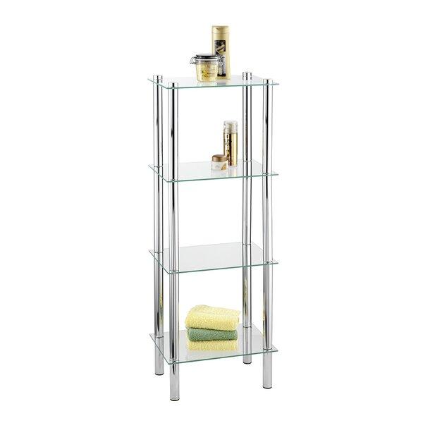 Addolorata 15.7'' W x 40.9'' H x 11.8'' D Free-Standing Bathroom Shelves