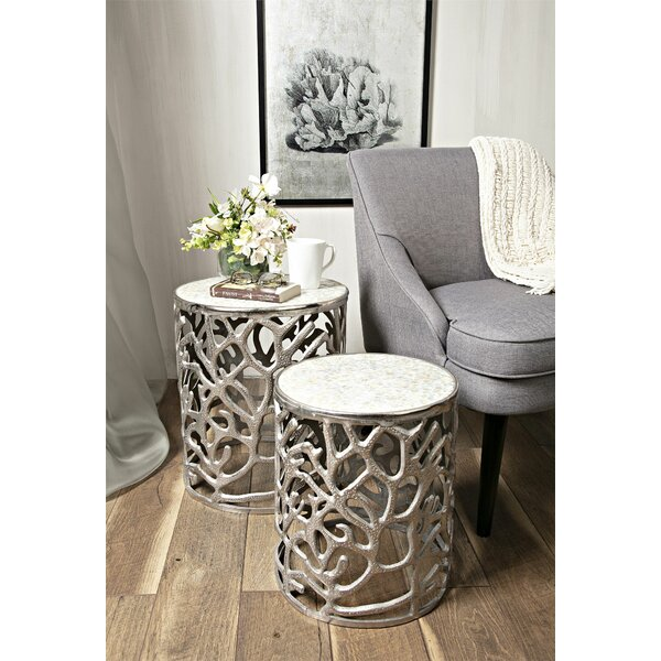 Cliffside 2 Piece End Table Set by Rosecliff Heights Rosecliff Heights