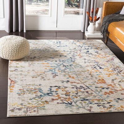 Floral Amp Plant Ivory Amp Cream Area Rugs You Ll Love In 2019