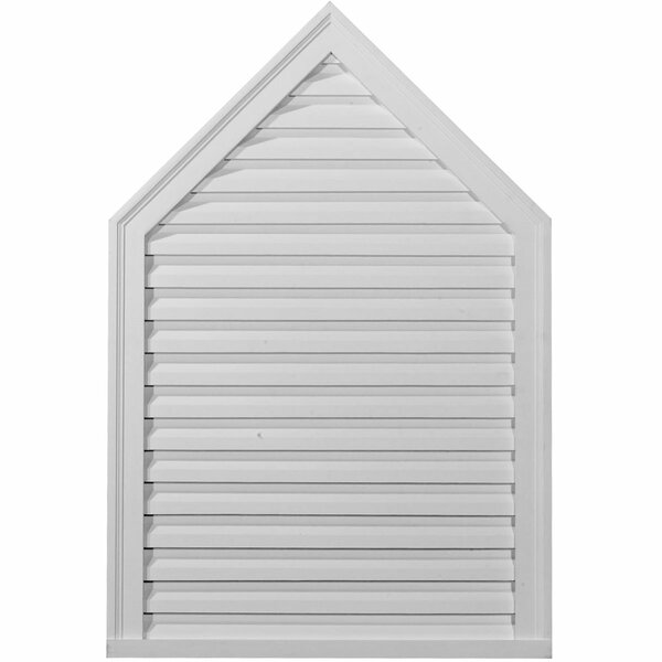 52H x 24W x 1 7/8D Peaked Gable Vent by Ekena Millwork