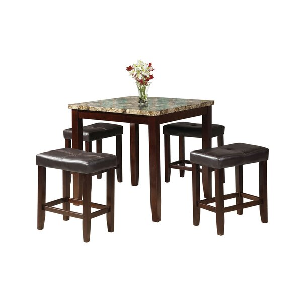 Berges 5 Piece Counter Height Dining Set by Red Barrel Studio Red Barrel Studio
