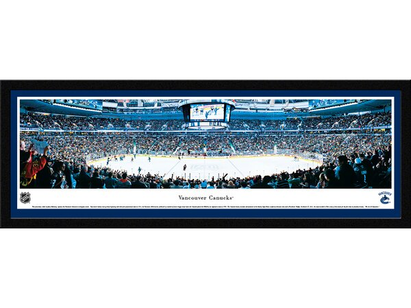 NHL Vancouver Canucks by James Blakeway Framed Photographic Print by Blakeway Worldwide Panoramas, Inc
